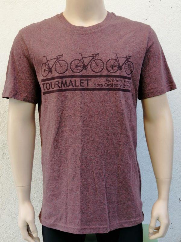 Mens Tourmalet 3 Bike Tee Cranberry
