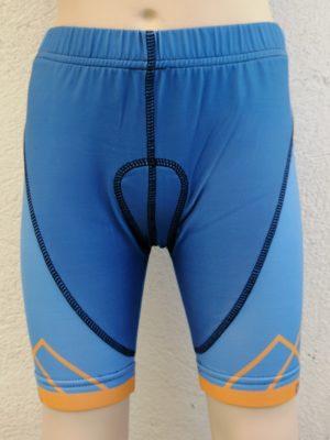 Kids Blue'n'Orange Cycling Shorts