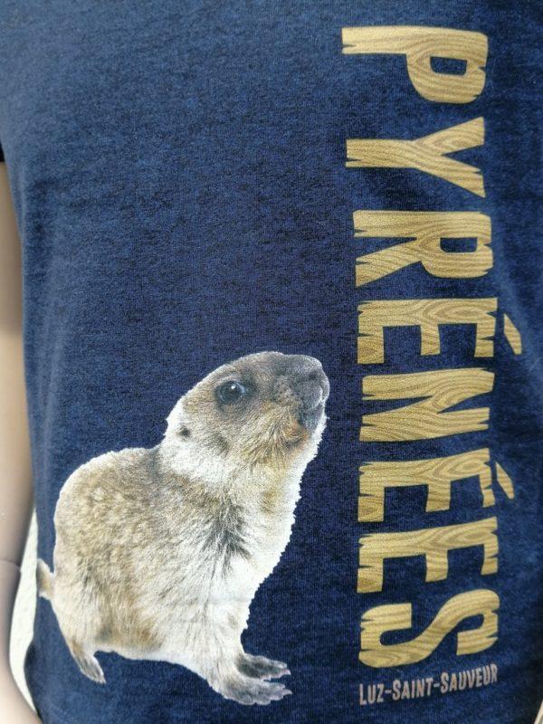 Kids marmotte T-Shirt Detail
