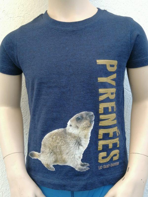Kids marmotte T-Shirt Blue