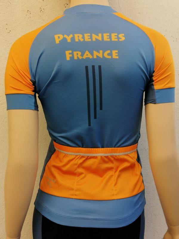 Ladies Tourmalet Orange'n'Blue Jersey Back