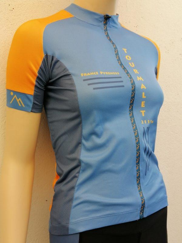Ladies Tourmalet Orange'n'Blue Jersey 3/4 Front