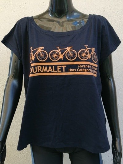 Ladies 3 Bike Tee Black