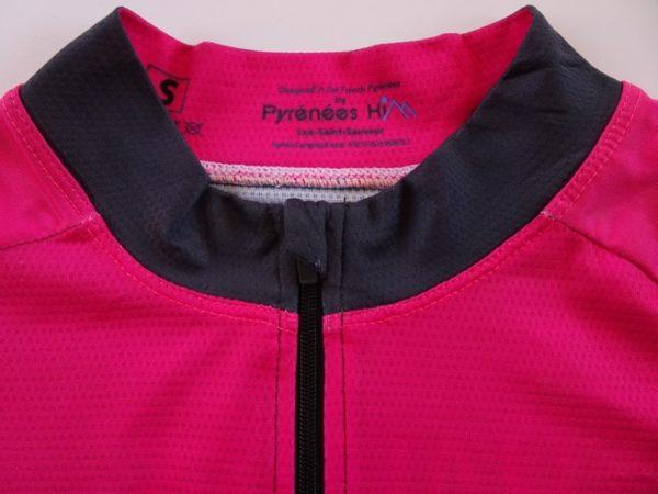Ladies Fluo Pink Tourmalet Jersey Detail 1
