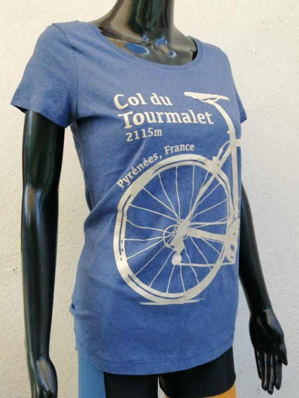 Ladies Tourmalet Tee Denim Blue 3/4 Front