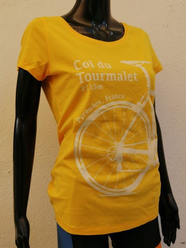 Ladies Tourmalet Tee Yellow 3/4 Front