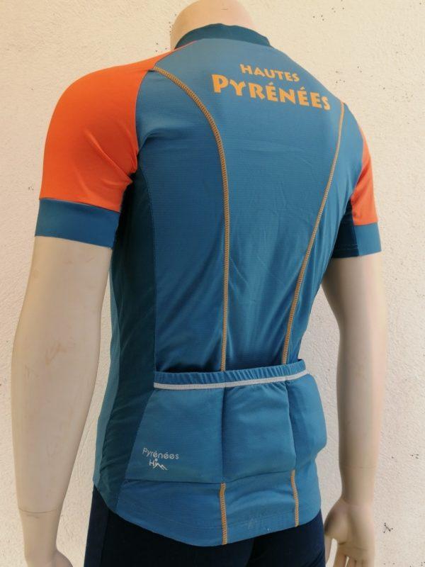 Mens Blue'n'Orange Tourmalet Jersey 3/4 Back