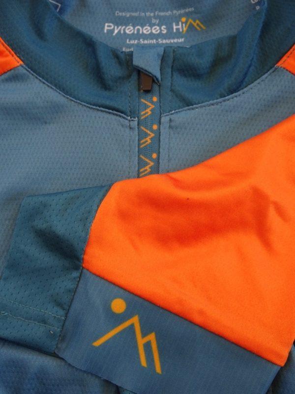 Mens Blue'n'Orange Jersey Detail 1