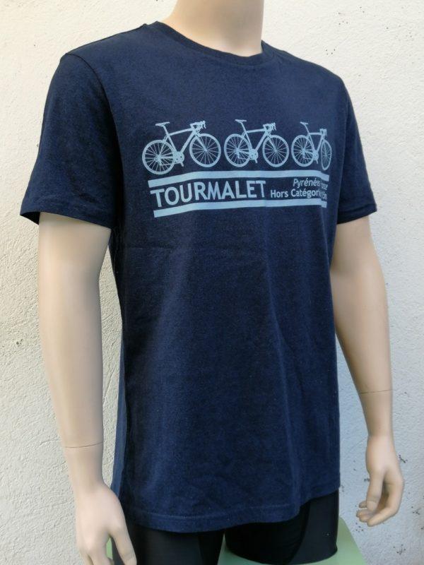 Mens 3 Bike Tee Blue 3/4 Front