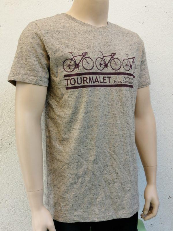 Mens 3 Bike Tee Ecru 3/4 Front