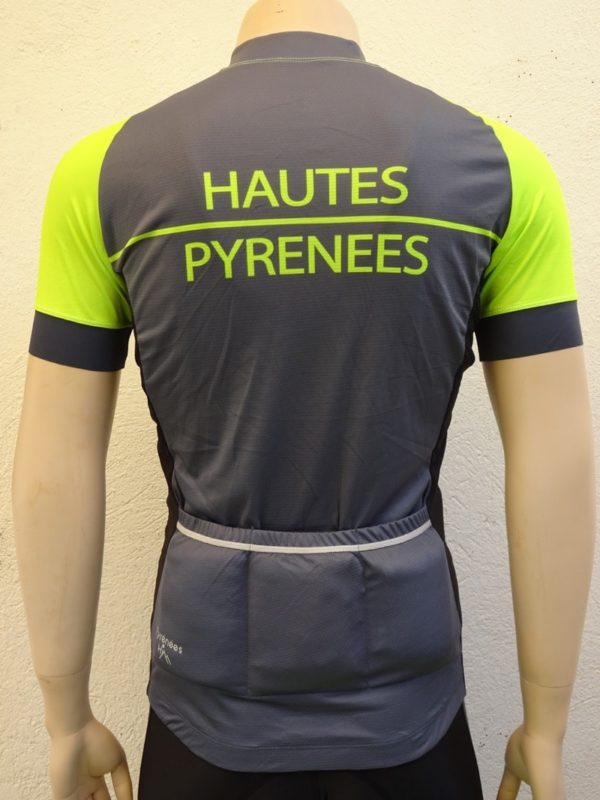 Mens Fluo Yellow Tourmalet Jersey Back