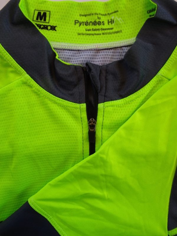 Mens Fluo Yellow Tourmalet Jersey Detail