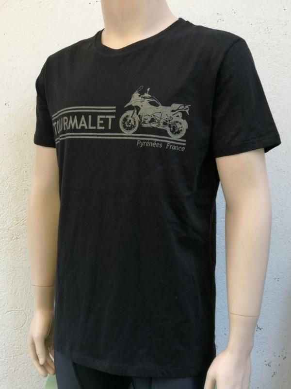 Mens Motorbike Tee Black 3/4 Front