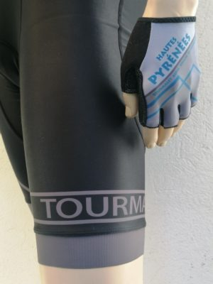 Mens Black and Grey Tourmalet Bib-Shorts