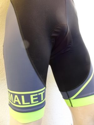 Mens Fluo Yellow Bib-Shorts