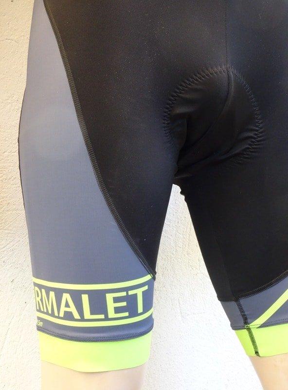 Mens Tourmalet Flou Yellow Bib-Shorts Detail