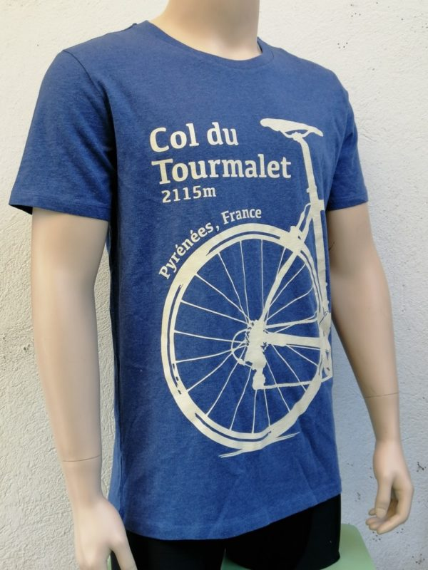 Mens Tourmalet Tee Denim Blue 3/4 Front